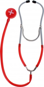 Toi-Toys dokters stethoscoop 29 cm rood