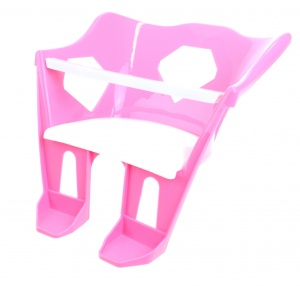 Toi-Toys Bicycle seat for baby dolls 24 x 18 cm pink