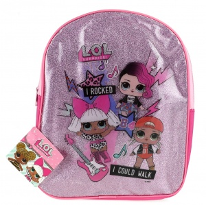 Toi-Toys L.O.L. Surprise glitter backpack pink31 cm