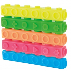 Toi-Toys markers building blocks neon 5 pieces