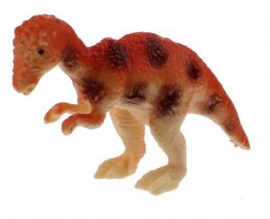 Toi-Toys dinosaure miniature 6 cm brun / orange