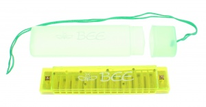 Toi-Toys mondharmonica Bee in opbergetui 13 cm groen