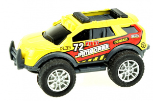 Toi-Toys monstertruck Cross Country jongens 9 cm staal geel