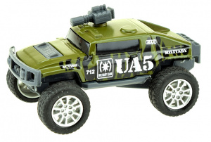 Toi-Toys monstertruck Cross Country jongens 9 cm staal groen