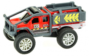 Toi-Toys monstertruck Cross Country jongens 9 cm staal rood