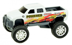 Toi-Toys monstertruck Cross Country jongens 9 cm staal wit