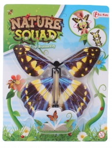 Toi-Toys Nature Squad exciting butterfly 12 cm blue