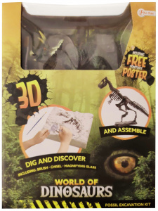 Toi-Toys opgraafkit World of Dinosaurs triceratops gips 5-delig