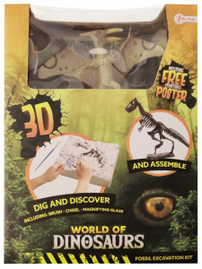 Toi-Toys opgraafkit World of Dinosaurs pteranodon gips 5-delig