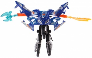 Toi-Toys Roboforces transformation motor blauw 11 cm