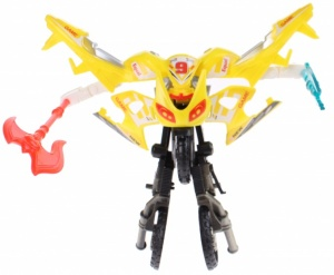 Toi-Toys Roboforces transformation motor geel 11 cm