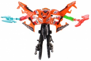Toi-Toys Roboforces transformation motor oranje 11 cm