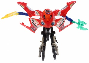 Toi-Toys Roboforces transformation motor rood 11 cm