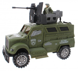 Toi-Toys speelset Army special forces jeep groen 3-delig