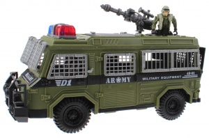 Toi-Toys speelset Army special forces pantserbus groen 3-delig