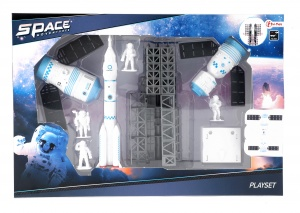 Toi-Toys speelset Space Adventures 9-delig wit/lichtblauw