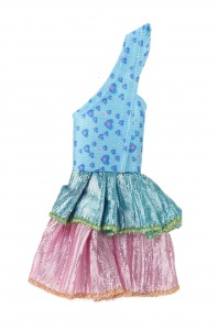 Toi-Toys teen doll Lauren party dress blue/pink 14 cm