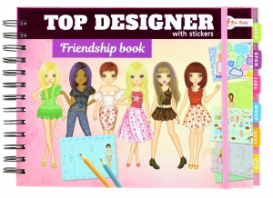Toi-Toys girls' friend book with stickers