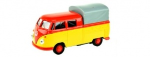 Toi-Toys Welly Volkswagen T1 geel/rood 12 cm