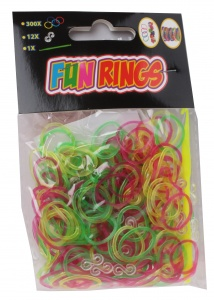 TOM Fun Rings braid braids yellow/green/purple 313-piece