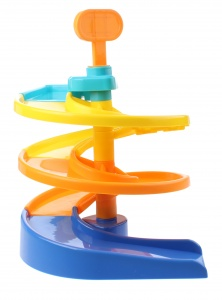Jonotoys garage Spiral Ramp with 2 cars blue / green