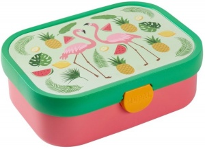TOM lunchbox Flamingo 1 liter green