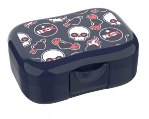 Lunch Buddies lunchbox Rock donkerblauw 13 x 9,5 cm