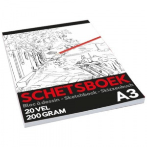 TOM schetsboek Pro junior A3 papier wit 20 vellen