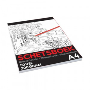 TOM schetsboek Pro junior A4 papier wit 20 vellen