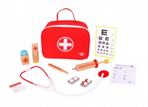 Tooky Toy doctor's case junior 24.5 x 18 cm red 13-piece