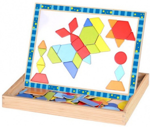 Tooky Toy magneetpuzzel junior 29,5 x 22 cm hout 79-delig