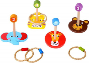 Tooky Toy ringworks Wild animals junior wood 8-piece