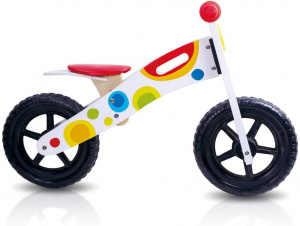 Tooky Toy loopfiets Tooky Toy Junior Wit/Multicolor