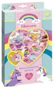 Totum knutselset Unicorn Garland Diamond Painting 4-delig