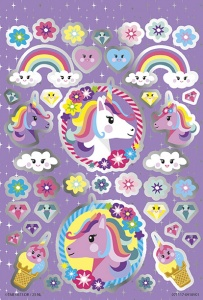 Totum stickerset Unicorn Booklet 14 x 21 cm 4 vellen