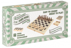 Toyrific 3-in-1 game box 29 x 14.5 cm wood beige/brown