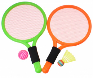 Toyrific badminton set Summer Fun38 cm green/orange 4-piece