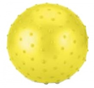 Toyrific Ball with nubs 15 cm yellow