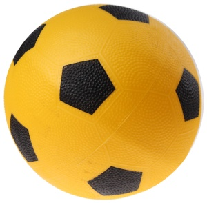 Toyrific Ball football print 21 cm yellow
