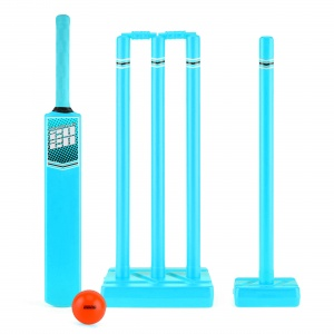 Toyrific cricketset Powerplay 2020 maat 3 lichtblauw 10-delig