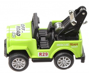Toyrific jeep pull back 5 cm groen
