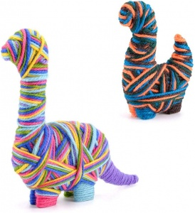 Toyrific craft set Yarn AnimalsDinosaur junior 25-piece