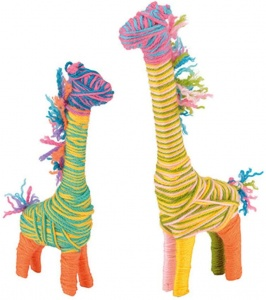 Toyrific craft set Yarn AnimalsGiraffe junior 27-piece