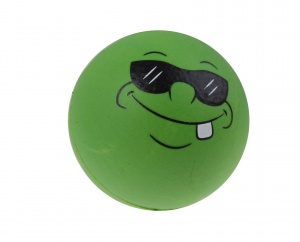 Toyrific bouncing ball Smiley 6.3 cm green