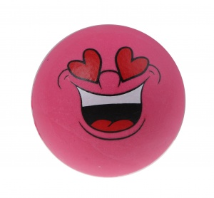 Toyrific bouncing ball Smiley 6.3 cm pink