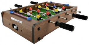 Toyrific table football game 20 inch brown 16-piece