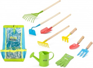 Toyrific gardening set with backpack Little Roots10-piece