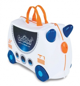 Trunki Ride-On Ruimteschip Skye koffer wit 46 x 30 x 21 cm