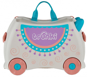 Trunki koffer ride-on junior 18 liter polypropyleen wit