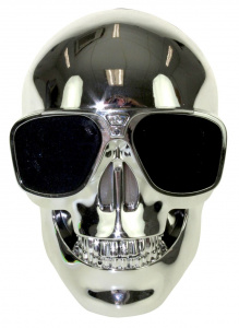 United Entertainment speaker Skull bluetooth 13 cm staal zilver